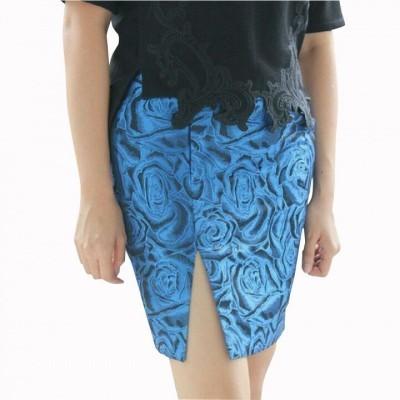 jacquard-slit-skirt