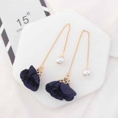 simple-small-fresh-flowers-earrings-navy-02a011r
