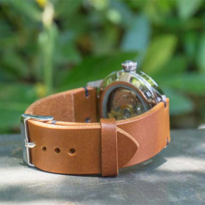 tali-jam-tangan-kulit-asli-18mm.-20mm.-21mm.-22mm.-24-mm.-26-mm-warna-coklat-muda-garansi-1-tahun