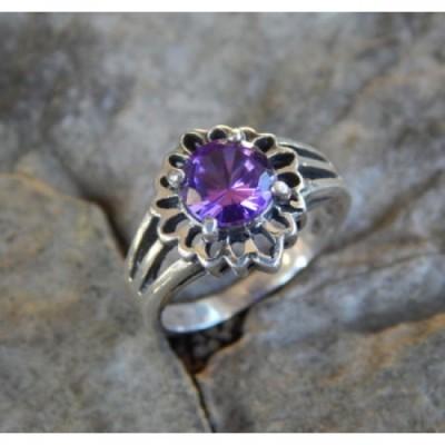 cincin-perak-motif-bunga-matahari-batu-amethys-05963