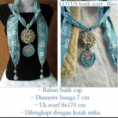 kalung-batik-scarf-lotus-blue