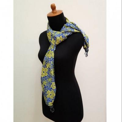 gesyal-silky-scarf-travelling-wanita-biru-lime