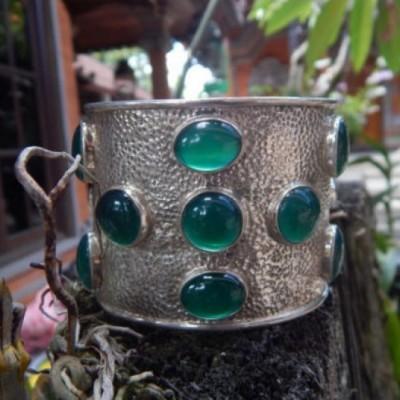 gelang-perak-besar-batu-green-chalcedony-100053