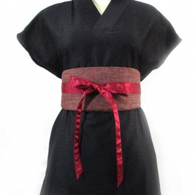 koinobori-red-linen-obi-belt-ikat-pinggang-wanita