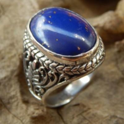 cincin-perak-batu-lapiz-lazuli-motif-bun-15268