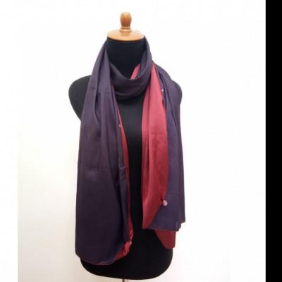 gesyal-reversible-satin-scarf-travelling-wanita-maroon-ungu