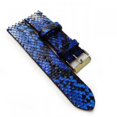 tali-jam-tangan-kulit-asli-ular-phyton-ukuran-22-mm-warna-biru-garansi-1-tahun-strap-jam.-strap-kulit
