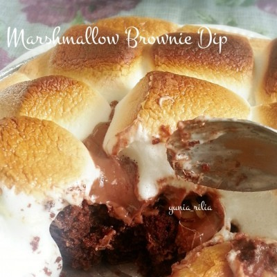 marshmallow-brownie-dip