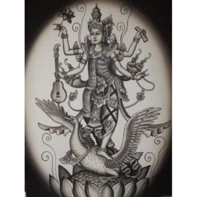 lukisan-tradisional-motif-dewi-saraswati-22804