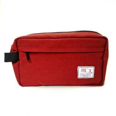 travel-pouch-maroon-red-salmon-aksesoris-traveling-aksesoris-fashion-tas-genggam-surabaya