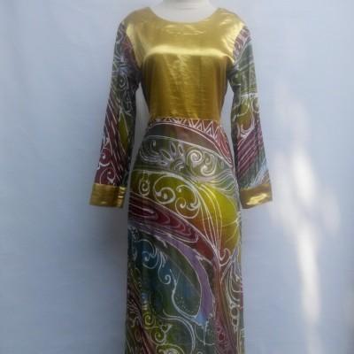 gamis-batik-tulis-abstrak