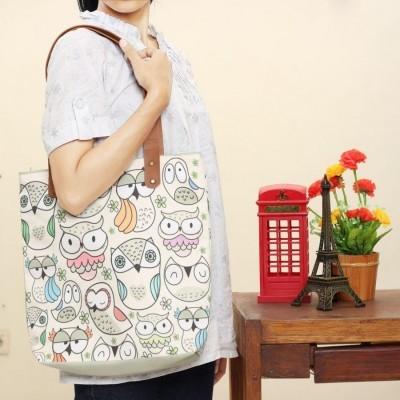 tas-totebag-owl-family-full-printing-bahan-kanvas