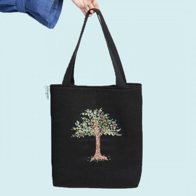 embroidery-totebag-spring-collection-tropical-tree-hijau