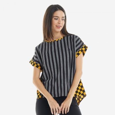 batik-dirga-canary-atasan-wanita-blouse-batik-lurik-yellow