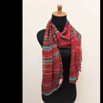 gesyal-motif-scarf-sifon-syal-travelling-wanita-merah