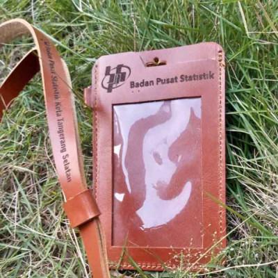 name-tag-id-card-kulit-asli-logo-bps-badan-pusat-statistik-garansi