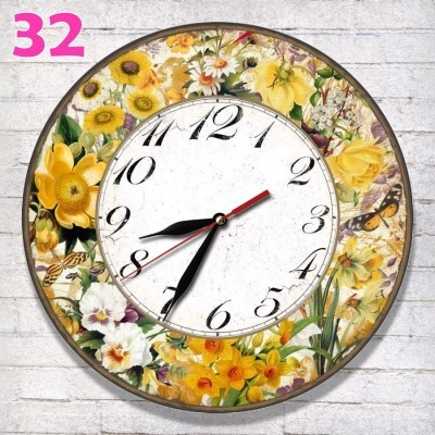 -32-jam-dinding-retro-nuansa-flora-hiasan-dinding-motif-bunga