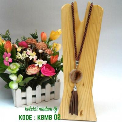 kalung-batu-medali-brown-02-kode-kbmb-02-
