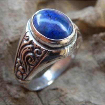 cincin-perak-batu-lapiz-lazuli-37603