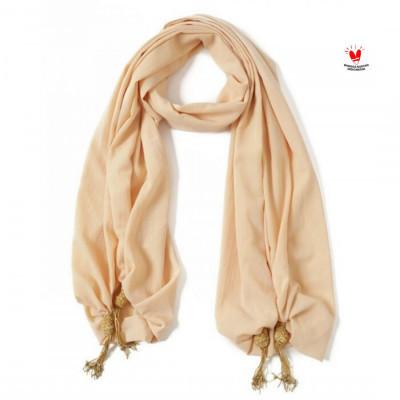 gesyal-syal-scarf-crepe-polos-rajut-krem