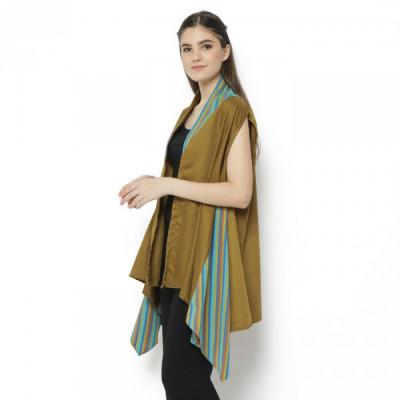 gesyal-loose-outerwear-list-batik-wanita-asimetris-army