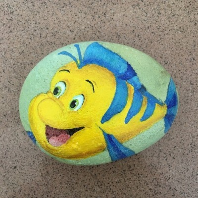 batu-lukis-disney-the-little-mermaid-flounder