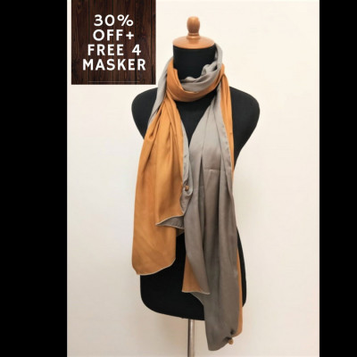 gesyal-reversible-satin-scarf-travelling-wanita-gold-grey