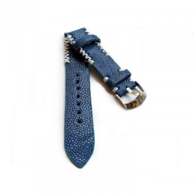 tali-jam-tangan-kulit-asli-ikan-pari-size-22-mm-warna-biru-garansi-1-tahun