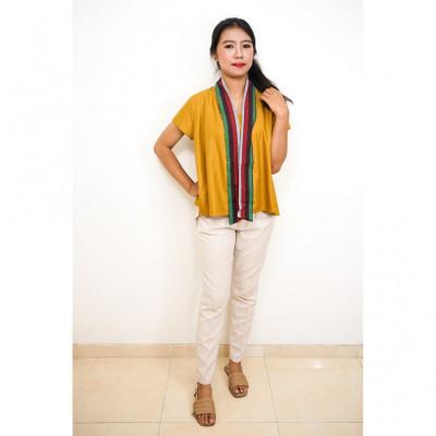 fs-gesyal-blouse-kebaya-pendek-motif-polos-list-lurik-kutubaru-atasan-wanita-kuning-mustard