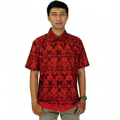 kemeja-batik-pria-lengan-pendek-etnik-merah-size-l