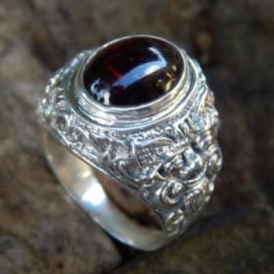 cincin-perak-motif-ukiran-boma-batu-garnet-cabuchon-16119