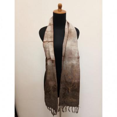 gesyal-motif-batik-scarf-syal-travelling-wanita-coklat
