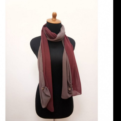 gesyal-reversible-sifon-scarf-travelling-wanita-coklat-maroon
