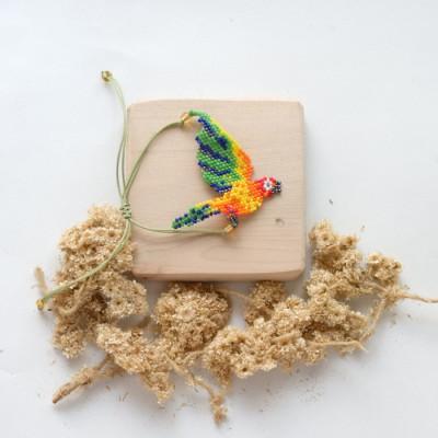 gelang-manik-macaw-bird