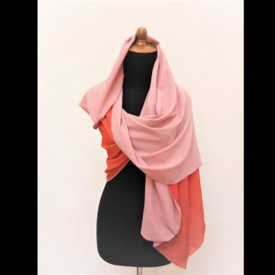 gesyal-syal-travelling-wanita-crepe-bolak-balik-scarf-orange-pink