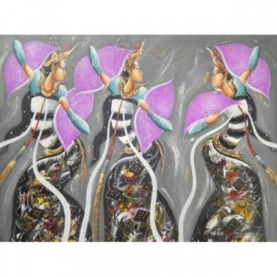 lukisan-abstrak-motif-3-penari-63438