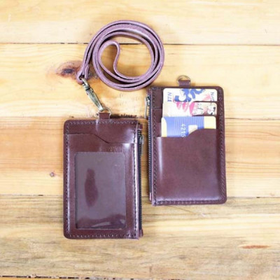 tempat-id-card-kulit-asli-model-dompet-warna-coklat-card-holder.-gantungan-id-card