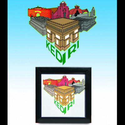 bingkai-hiasan-ilustrasi-kota-kediri
