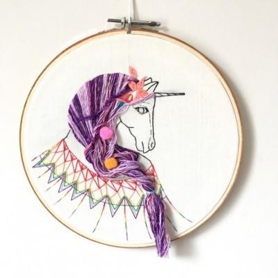 pajangan-hoop-sulam-unicorn
