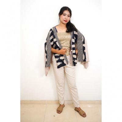 gesyal-cardigan-tunik-kimono-motif-batik-bohemian-outer-cream