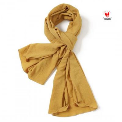 gesyal-syal-scarf-crepe-polos-mustard