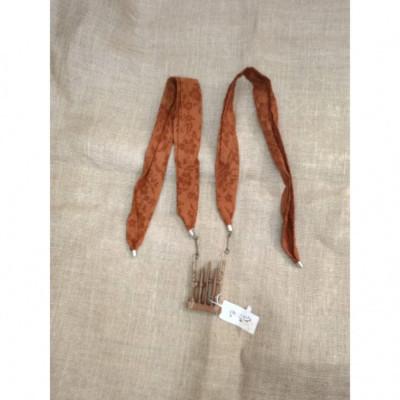 kalung-batik-kalung-handmade-kalung-unik-batik-kalung-gamelan-kalung-angklung-gesyal-coklat-bata