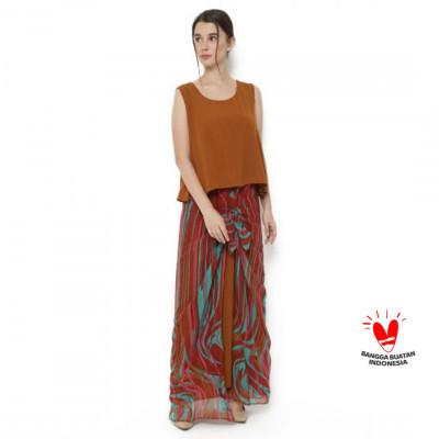 gesyal-long-dress-ikat-sifon-wanita-coklat-merah.-ukuran-besar-namun-fleksible-karena-bisa-diikat
