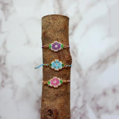 gelang-manik-magenta-flower