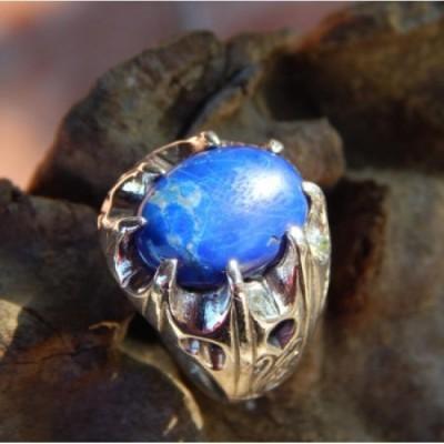 cincin-perak-motif-cakar-batu-lapis-lazulli-89769
