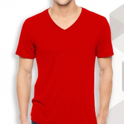 intwo-red-v-neck-slim-fit-t-shirt