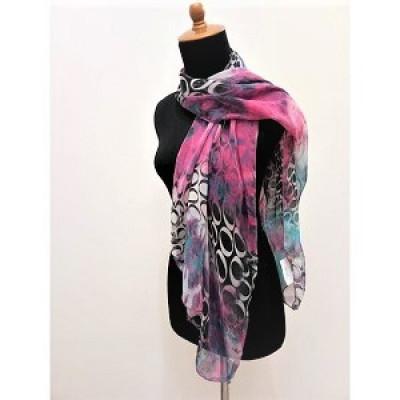 gesyal-sifon-motif-scarf-travelling-wanita-tosca-fuschia