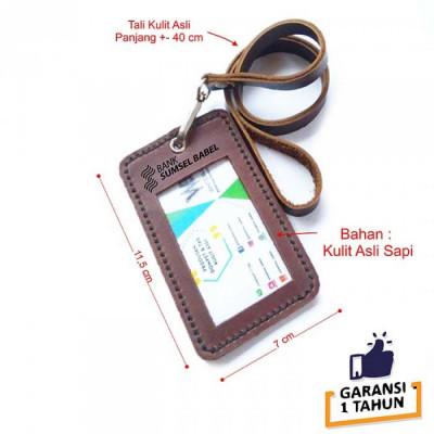 name-tag-id-kulit-asli-logo-bank-sumsel-warna-coklat-garansi-1-tahun