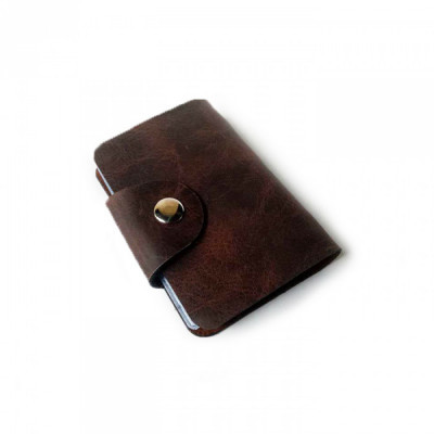 dompet-kartu-kulit-asli-sapi-24-slot-warna-coklat-tua-garansi-1-tahun