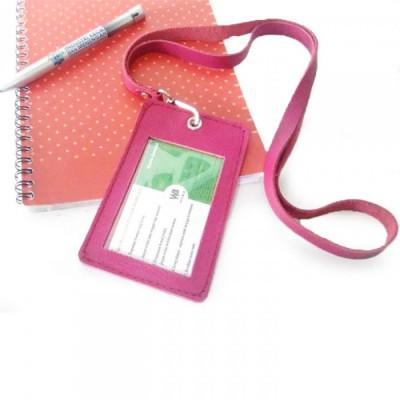 name-tag-id-kulit-asli-garansi-1-tahun-warna-pink-dompet-id-card.-gantungan-id-card-